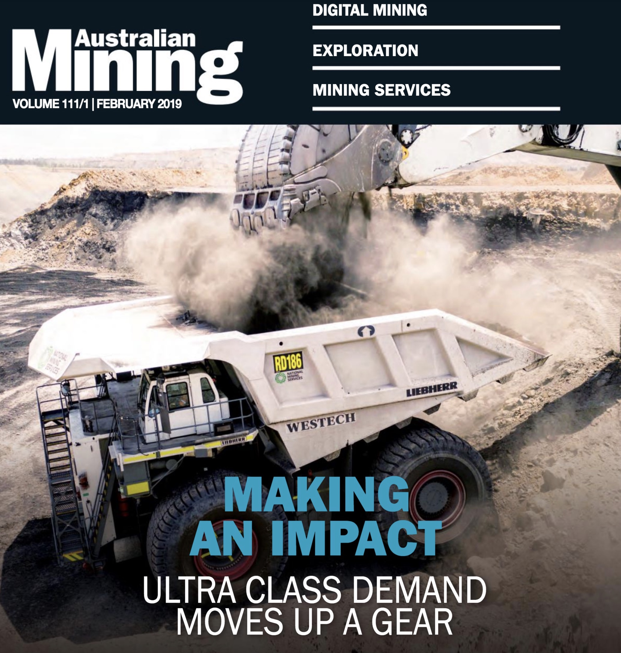 Front Cover of Australian Mining Magazine!